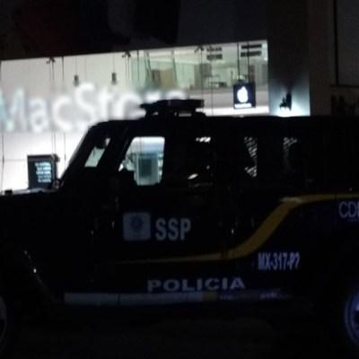 Cuatro detenidos por robo a tienda de telefonía y cómputo en CDMX
