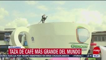 FOTO: Rompen récord Guinness por taza de café más grande, 16 Junio 2019