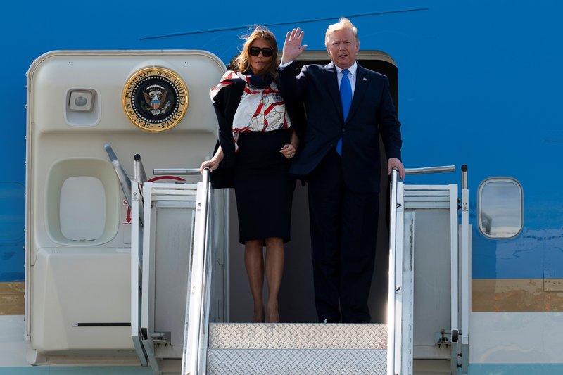 Trump llega a Londres para su visita de Estado en Reino Unido