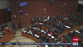 Foto: Enfrentan Senadores Pan Morena cONFGRESO 26 Junio 2019