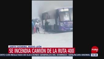 FOTO: Se incendia camión en Santa Catarina, Nuevo León, por falta de mantenimiento