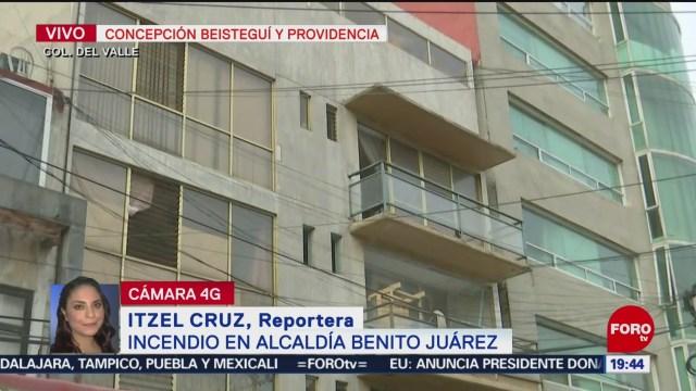FOTO: Se registra incendio en un edificio en la colonia Del Valle, CDMX, 16 Junio 2019