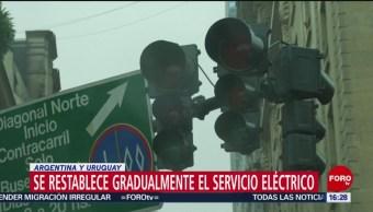 FOTO: Se restablece paulatinamente servicio eléctrico en Argentina y Uruguay, 16 Junio 2019