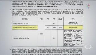 Foto: Secretaría Salud Publica Licitación Compra Medicamentos 5 Junio 2019