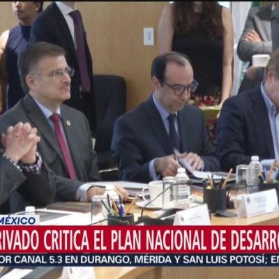 Sector privado critica Plan Nacional de Desarrollo del gobierno federal