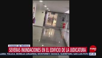 Foto: Inundaciones Afectan Edifico Judicatura Federal Cdmx 26 Junio 2019