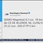 Foto: Sismo poco común ocurren en Nuevo León