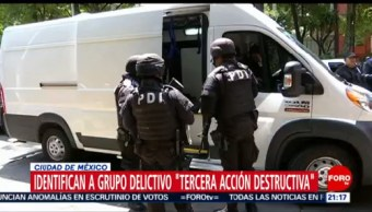Foto: Cdmx Organización Criminal Tercera Acción Destructiva 19 Junio 2019