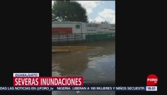 FOTO: Tormenta en Juventino Rosas provoca inundaciones
