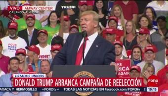 Foto: El presidente Donald Trump lanzó hoy su campaña de reelección en el estado de Florida 2020 18 Junio 2019