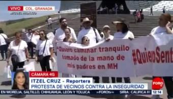 FOTO: Vecinos protestan contra la inseguridad en Miguel Hidalgo, CDMX, 1 Junio 2019