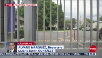 FOTO: Velarán restos de Edith González en Panteón Francés