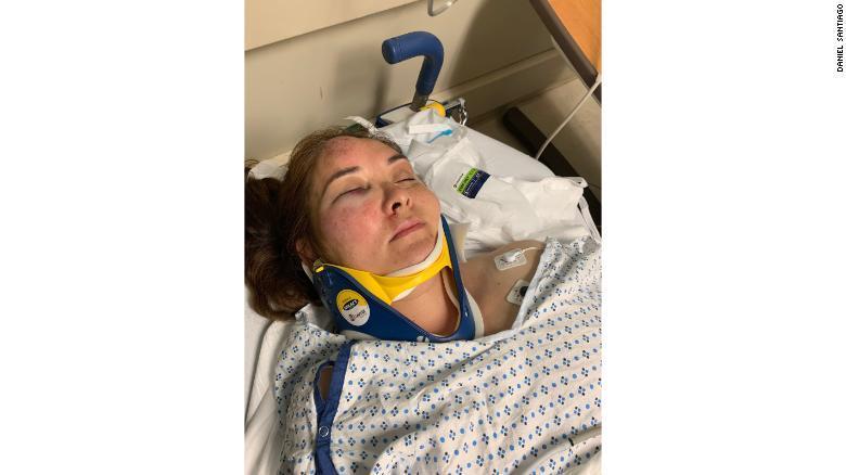 FOTO veronica ruiz madre golpeada en nueva jersey 28 JUNIO 2019
