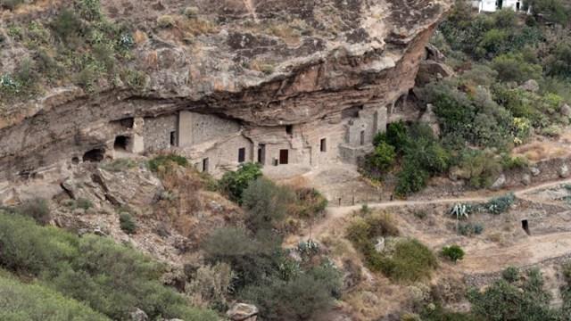 Foto: El yacimiento de Risco Caído en Gran Canaria, declarado patrimonio mundial, 7 de julio de 2019 (EFE)