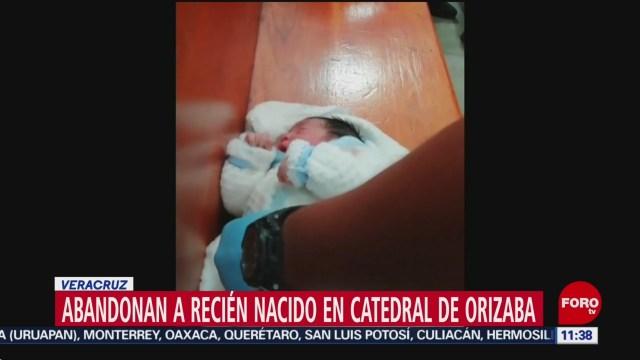Abandonan a recién nacido en catedral de Orizaba, Veracruz