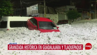 Foto: Activan plan DN-III tras granizada en Jalisco