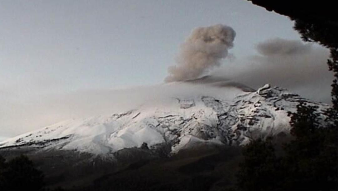 Volcán Popocatépetl emite exhalación este 22 de julio del 2019