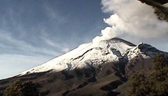 actividad del volcán Popocatépet