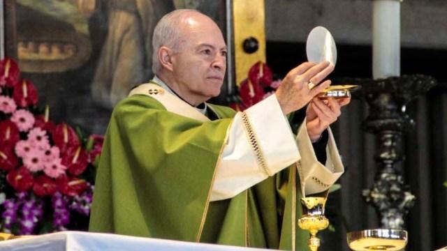 Foto: Carlos Aguiar Retes celebra misa, el 21 de julio de 2019 (Imagen: desdelafe.mx)