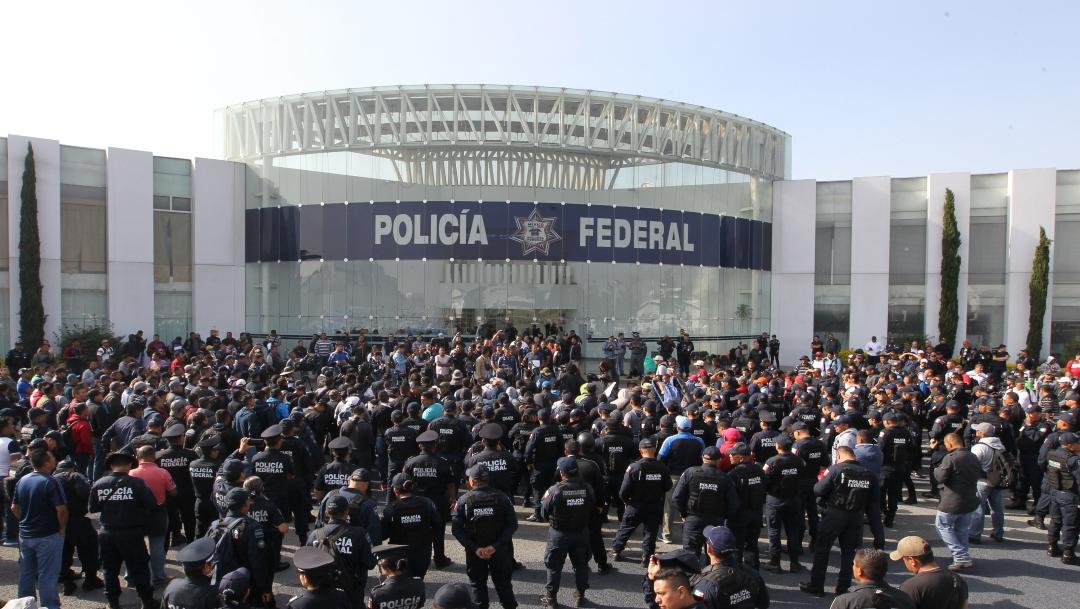 Foto: AMLO celebra acuerdo con Policía Federal 9 julio 2019