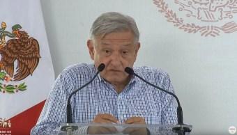 Foto: El presidente Andrés Manuel López Obrador realiza una gira de trabajo en Michoacán, el 14 de julio de 2019 (Gobierno de México)