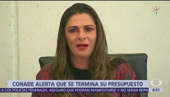 Ana Gabriela Guevara explica a senadores presuntas irregularidades en Conade