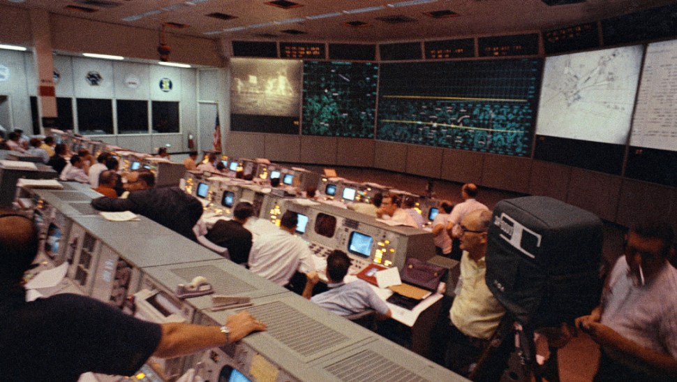 centro de control de la nada mision apolo 11