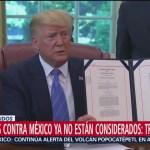 Foto: Aranceles Contra México Ya No Están Considerados: Trump 1 Julio 2019