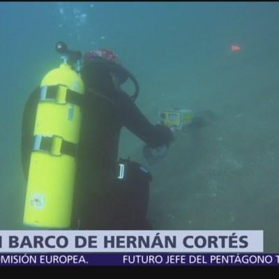 Arqueólogos buscan barco de Hernán Cortés