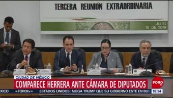 Arturo Herrera comparece ante diputados; va por la ratificación