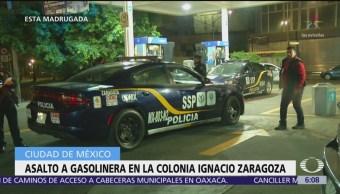 Asalto a gasolinera en la colonia Ignacio Zaragoza, CDMX