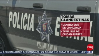 FOTO: Aseguran toma clandestina en Chihuahua, 21 Julio 2019
