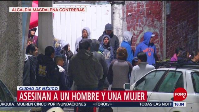 Asesinan a un hombre y a una mujer en CDMX, en distintos actos