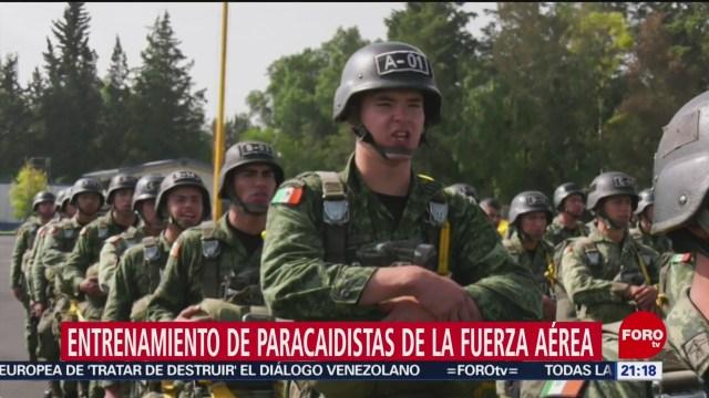 Foto: Entrenamiento Paracaidistas Fuerza Aérea Mexicana 18 Julio 2019