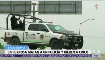 Atacan a policías en Reynosa, Tamaulipas