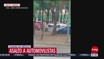 Foto: Video Automovilista Huye Intento Asalto Churubusco Cdmx 17 Julio 2019