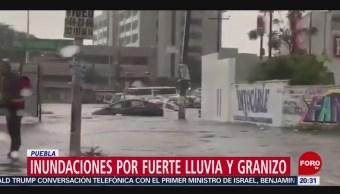 Foto: Inundación Puebla Autos Personas Varados 11 Julio 2019