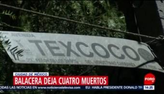 FOTO: Balacera deja cuatro muertos en una fiesta en CDMX, 20 Julio 2019