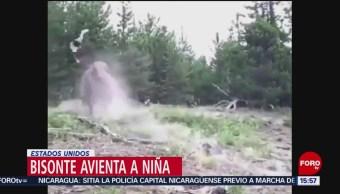 Foto: Bisonte Golpea Niña Parque Estados Unidos 25 Julio 2019