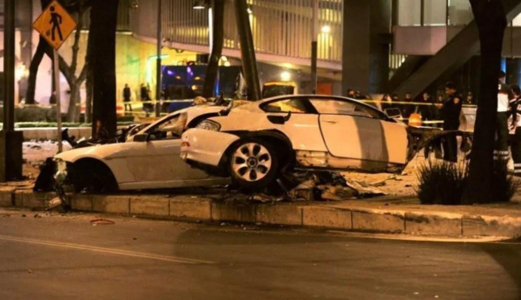 Foto: Choque de BMW en Paseo de la Reforma, 31 de marzo de 2017