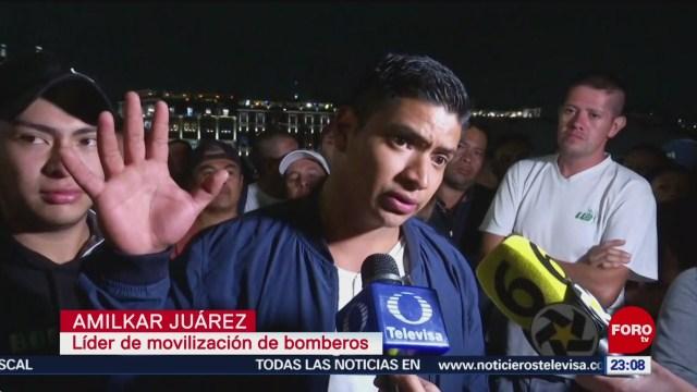 Foto: Protesta Bomberos Acuerdo Autoridades CDMX 11 Julio 2019