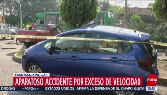 Camioneta se queda sin frenos provoca carambola Tlaquepaque Jalisco