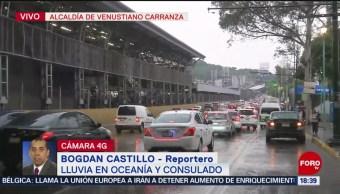 Foto: Caos vial por lluvia en la Ciudad de México