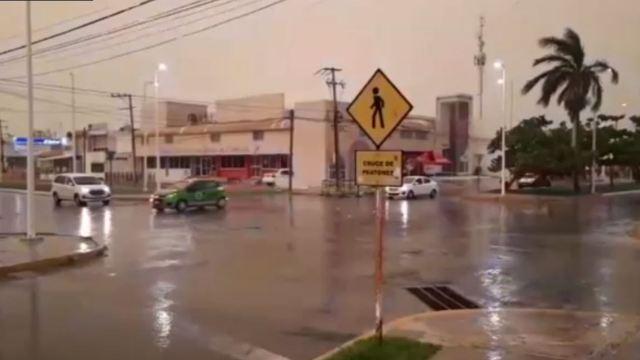 Foto: La lluvia afectó diversos municipios del estado, 7 de julio de 2019 (Noticieros Televisa)