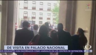 Carlos Urzúa visita el Palacio Nacional