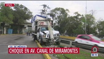 Choque en Canal de Miramontes deja sin luz a colonia Prado Churubusco, CDMX