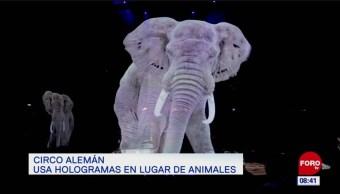 Circo alemán usa hologramas en lugar de animales