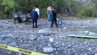 Foto: Corriente de agua arrastra a seis personas en Coahuila, 3 de julio de 2019, México