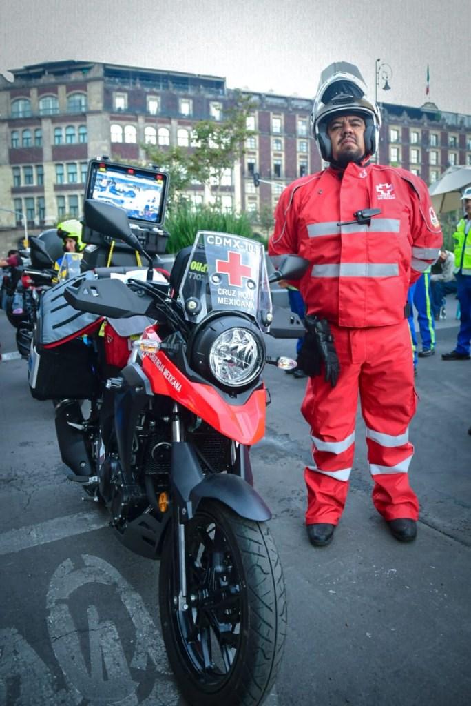 Foto Cómo entrenan los paramédicos en motocicleta de la Cruz Roja 19 julio 2019
