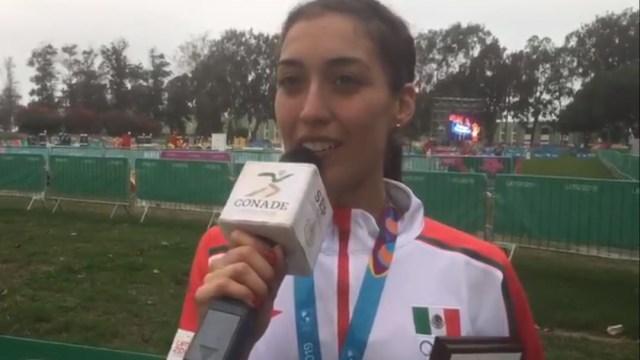 Foto: Mariana Arceo Gutiérrez dio a México la medalla de oro en el pentatlón moderno, el 27 de julio de 2019 (Twitter @CONADE)